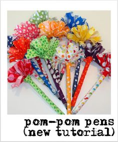 I first wrote about my pom-pom pens two years ago and I have been meaning to make a new step-by-step tutorial for them. I recently u...