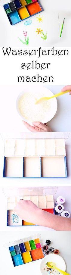 Wasserfarben selber machen. DIY Farben. Malen mit Kindern