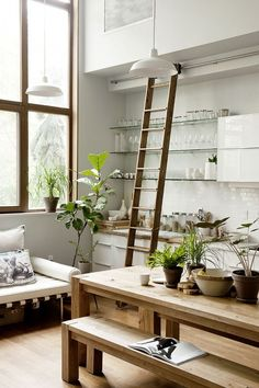 Trend Alert: Library Ladders at Home via @mydomaine                                                                                                                                                                                 More