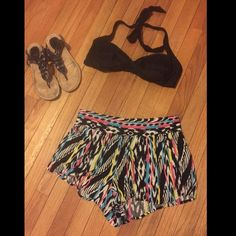 NEON & Black print shorts Perfect beach coverup! Or wear with a crop top, body suit or tank top ✨ Eye Candy Shorts