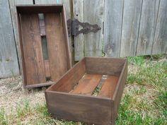 wooden CRaTenewborn photo propwedding centerpiecestorage by Wreckd, $32.00