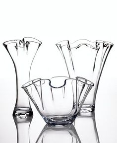 Lenox Glass Giftware, Organics Collection: vases and bowl