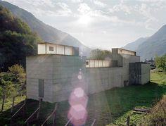 Peter Märkli - La Congiunta; a sculpture gallery for artist Hans Josephsohn, Giornico 1992
