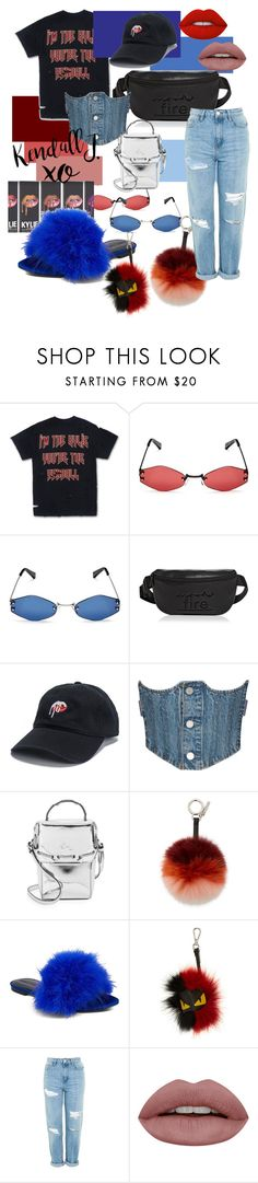 """all about the jenner"" by indeey ❤ liked on Polyvore featuring Kendall + Kylie, xO Design, Fendi, Topshop, Lime Crime, ootd and streetwear"
