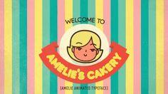 AMELIE - Animated Typeface