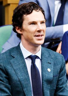 "benedictdaily: "" Benedict Cumberbatch sits in the royal box on centre court before the start of the men's singles final match on the last day of the 2016 Wimbledon Championships at The All England Lawn Tennis Club in Wimbledon, southwest London, on..."