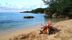 mer plage feu gif