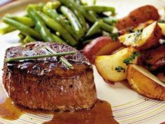 Steaks with Caramel-Brandy Sauce