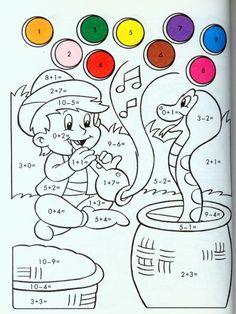 Book Activities, Preschool Activities, Math 4 Kids, Christmas Color By Number, Math Coloring Worksheets, Math Sheets, Kids English, Basic Math, 2nd Grade Math