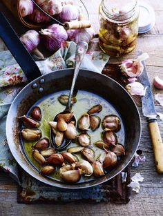 Garlic Roasted in Olive Oil Recipe.