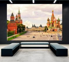 Red Square in Moscow Canvas Print Kremlin Canvas Art St. Basil& Cathedral Photo Moscow Skyline Moscow Wall Art Russian Wall Art Russia Art by ArtWog St Basils Cathedral, Oversized Wall Art, Thing 1, Canvas Art, Canvas Prints, Square Canvas, Office Wall Decor, Rest Of The World, Home Art