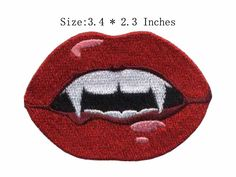 "Cheap Labios rojos y horrible dientes bordado parche 3.4 "" de ancho envío gratis insignia on / velcro parches / hierro en remiendo, Compro Calidad Parches directamente de los surtidores de China: Smiley Face American patches for clothing patch velcro or Iron on patch/fabric flower appliquesUSD 2.98/pieceUSA"