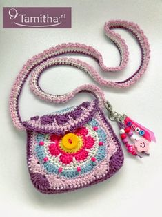 ENGLISH crochet pattern Flowery Purse now available in my Etsy shop =)