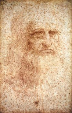 Self Portrait by Leonardo da Vinci, ca.1512. Red chalk on paper, 33.3 x 21.3 cm. To develop a complete mind: Study the science of art; study the art of science. Learn how to see. Realize that everything connects to everything else. ~Leonardo da Vinci