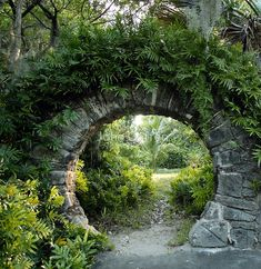View of a Moon Gate in Palm Grove Garden, Devonshire Parish, Bermuda. A moon gate is a circular open Garden Gates, Garden Art, Garden Entrance, Cacti Garden, Garden Mesh, Garden Trellis, House Entrance, Grand Entrance, Fruit Garden