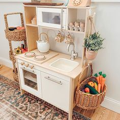 Montessori Playroom, Toddler Playroom, Playroom Design, Playroom Decor, Playroom Ideas, Ikea Kids Kitchen, Girls Play Kitchen, Kids Play Area, Toy Rooms