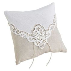 Lillian Rose™ Country Lace Ring Pillow - BedBathandBeyond.com