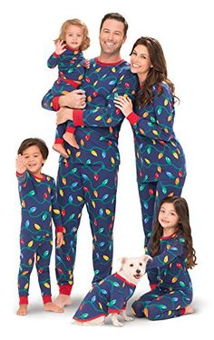 Matching Christmas Pajamas for Family with Christmas Lights Print  christmas   pajamas Best Family Christmas ed97828ba