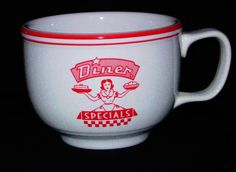 "Retired Fiesta® *DINER*  ""Specials"" SCARLET Jumbo Mug ~ Homer Laughlin China 