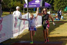 The Ramblin' Rose Women's Triathlon in Huntersville, NC.