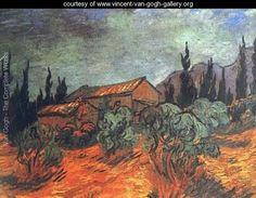 Wooden Sheds - Vincent Van Gogh.