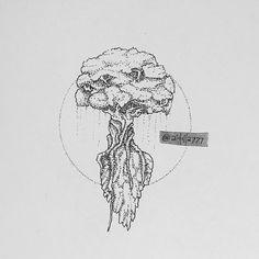 Arm Tats, Tree Illustration, Illustrations, Leaf Tattoos, Tattoo Tree, Tree Sketches, Dot Work, Pointillism, Sacred Art