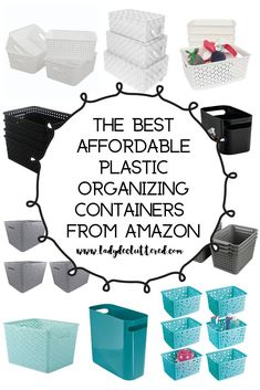If you want the trendiest and most functional organizing containers then you have found the right spot! From glass jars to woven baskets we found them all! Girls Bathroom Organization, Linen Closet Organization, Clutter Organization, Container Organization, Home Organization Hacks, Organizing Ideas, Kitchen Organization, Decluttering Ideas, Bathroom Storage