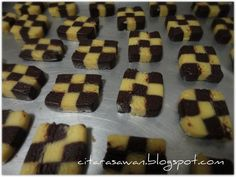 Biskut Dam - Step by step / Checkeredboard Cookies - Recipes Today!