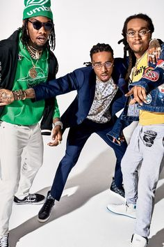 What does success look like for Atlanta three-piece Migos? A number one single, a critically beloved album, and, apparently, a tour of Mike Tyson's pigeon coop. Hip Hop And R&b, Hip Hop Rap, Trap, Migos Wallpaper, Rap Wallpaper, Cartoon Wallpaper, Migos Rapper, Migos Quavo, Lil Boosie