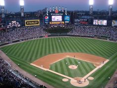 US Cellular Field in Chicago. Saw the Twins and ChiSox. Viciedo and Rios hit dingers. 97F at game time