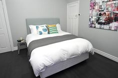 Love the colour dulux tranquil retreat! Must get a sample pot! Dulux Paint Colours Grey, Dulux Tranquil Retreat, The Block Glasshouse, Glass House, House Painting, House Colors, Room Inspiration, Interior Decorating, New Homes