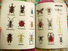 japanese bug embroidery