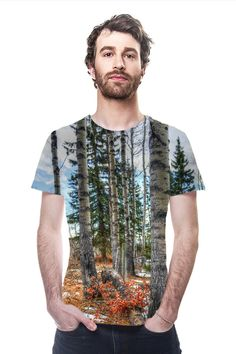 The Ranch Woods by Skye Ryan Evans. All Over Printed Art Fashion T-Shirt by OArtTee