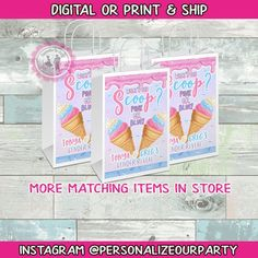 Custom Gift Bags, Customized Gifts, Pink Party Favors, Theme List, Gender Reveal Gifts, Brochure Paper, Chip Bags, Craft Bags, Candy Party