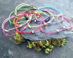 Natural stone bracelets gemstone bracelets by WiseRocks on Etsy Wish Bracelets, Gemstone Bracelets, Bracelets For Men, Bracelet Quotes, Lava Bracelet, Rock Necklace, Birthday Gifts For Boyfriend, Party Ideas, Gift Ideas