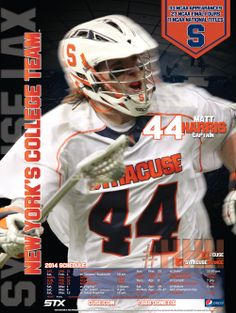 Syracuse Men's Lacrosse Poster 2014- First of 4 in the series