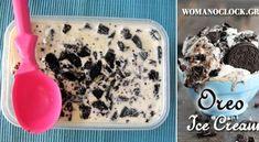 Παγωτό Γιαούρτι Σπιτικό Χωρίς Παγωτομηχανή | womanoclock.gr Oreo Ice Cream, Popsicles, Cereal, Oatmeal, Sweets, Breakfast, Food, The Oatmeal, Morning Coffee