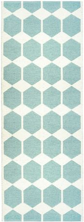 Anna Aqua Pastel rug (in light pink and yellow, black)