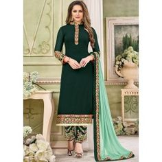 Discover the latest in dark green faux georgette pant style suit online. Buy this Epitome Dark Green Faux Georgette Pant Style Suit Dress Indian Style, Indian Dresses, Indian Outfits, Eid Outfits, Pakistani Dresses, Salwar Kameez, Salwar Suits, Punjabi Suits, Kurti Designs Party Wear