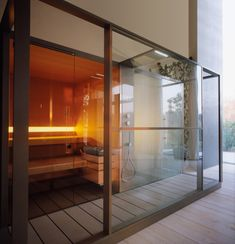 Sistema sauna e hammam Logica - Effe Finnish Sauna, Turkish Bath, Steam Room, Cabin Design, Home Spa, Jacuzzi, Sunroom, Designer, Outdoor Living