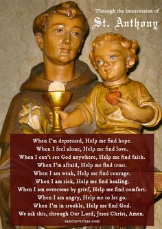 Through the intercession of St. Anthony