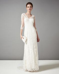 1940s classic vintage wedding dress style. Phase Eight Annabella Bridal Dress £450.00 AT vintagedancer.com