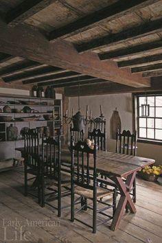 Beautiful early American  kitchen.