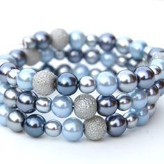 gray and blue bracelet