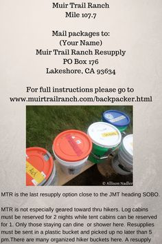 Muir Trail Ranch Resupply on the John Muir Trail