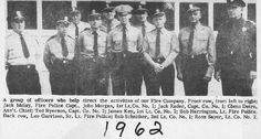 Officers of the Greenwood Lake Fire Department 1962