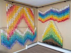 Origami 1000 Crane Air Waves Senbazuru 8 vibrant colors in