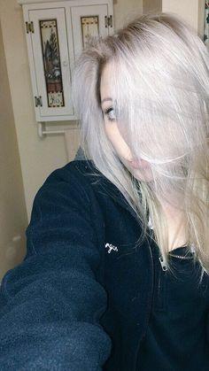 silver / white / ash blonde hair color