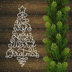 Vacances carte cadeau avec un lettrage la main nous vous souhaitons un Joyeux No l sous la forme d u Banque d'images