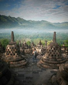 Explore the hidden beauty of Borobudur Temple in Magelang, Central Java, #Indonesia  Photo by: IG @dariszcahyadi